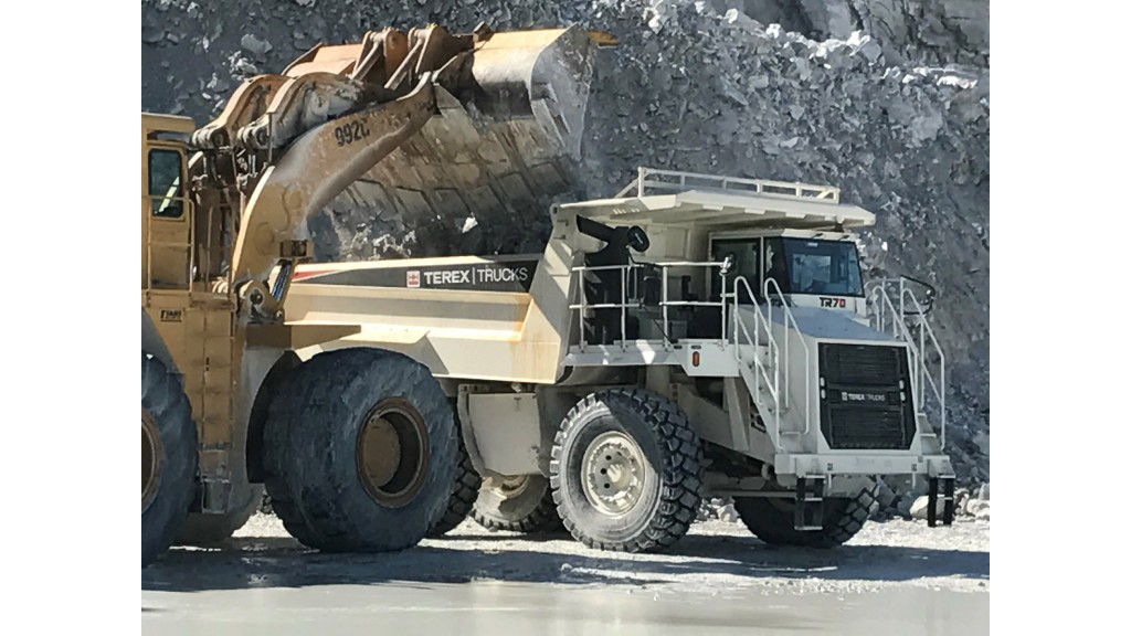 Terex rigid hauler proves to be concrete choice for limestone mine