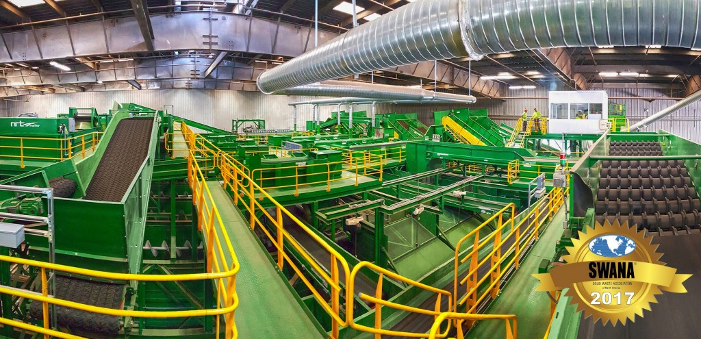 GreenWaste Recovery's single-stream MRF, located in San Jose, California, and designed and built by BHS, was named the Gold Award recipient by SWANA for 2017.