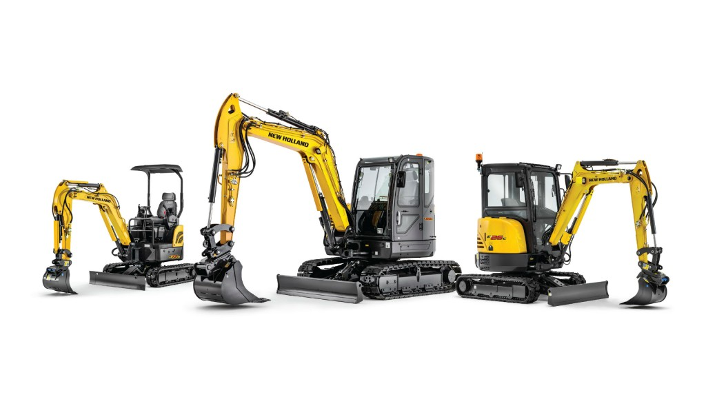 New Holland launches new full line of mini excavators