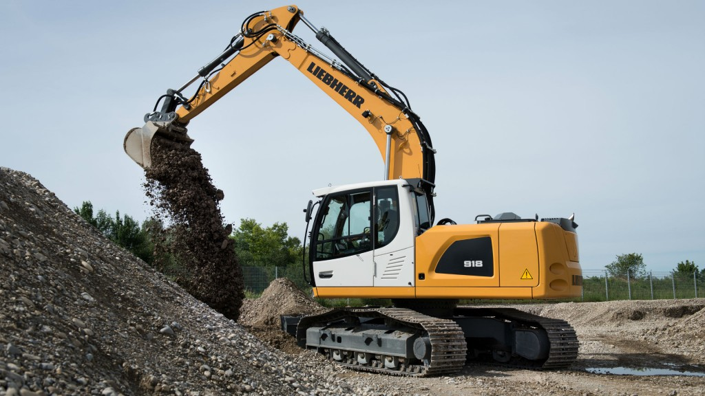 Liebherr crawler excavator ideal for earthmoving, trenching, pipe laying