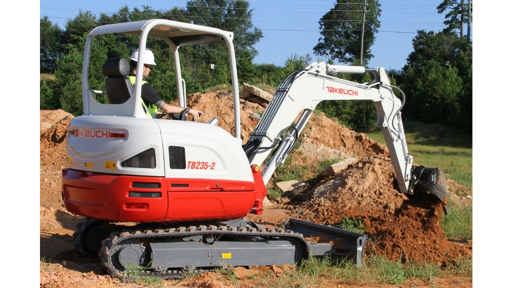 Takeuchi adds 3.5-ton compact hydraulic excavator