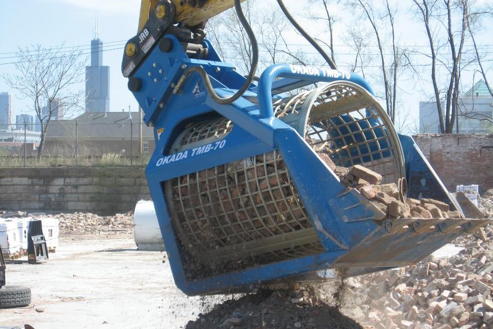 Okada Demolition Attachments - TMB Series Screening Buckets