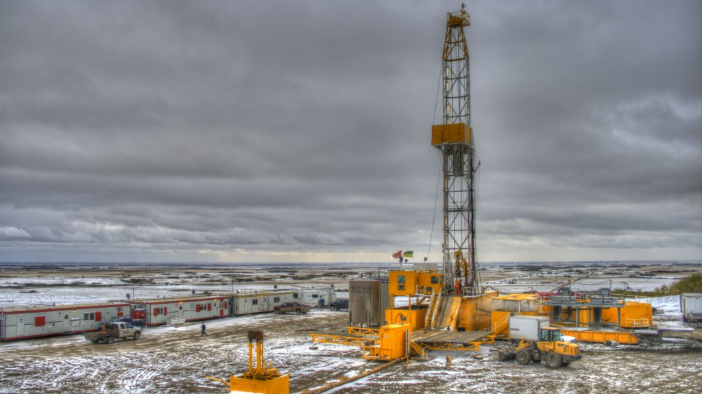 A drill rig in Saskatchewan.