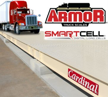 Digital truck scales feature SmartCell load cells