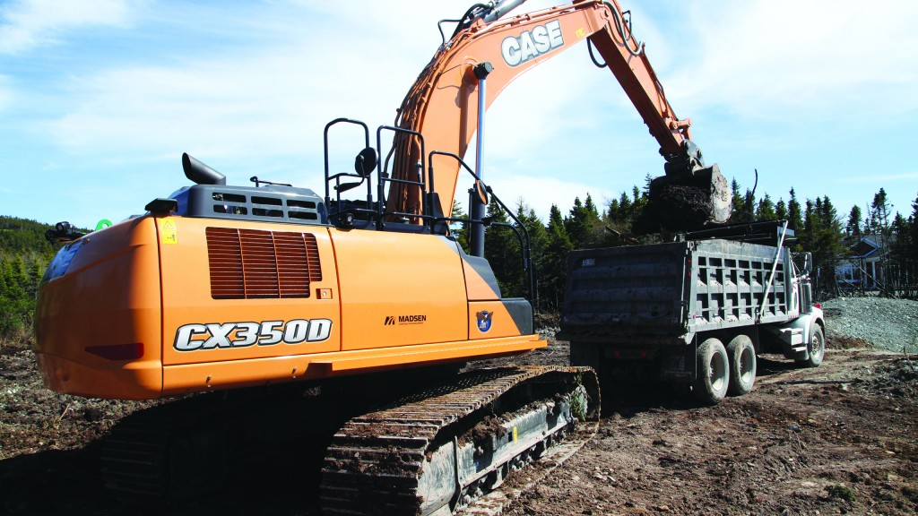 """Contractor relies on powerful Case CX350D excavator for work on """"The Rock"""""""