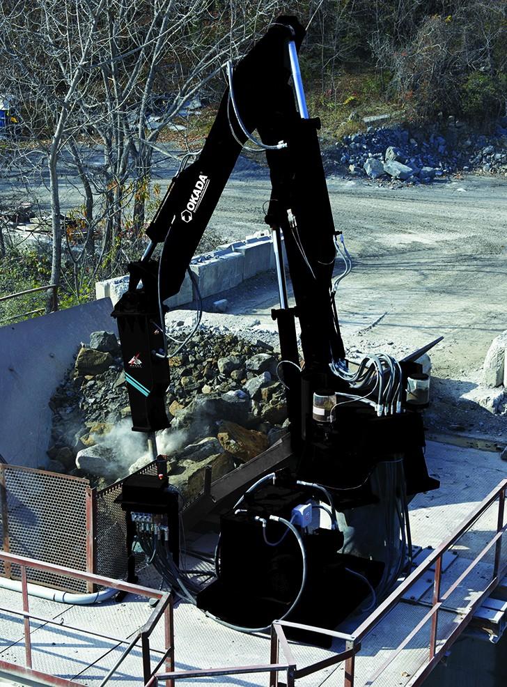 Pedestal Rock Breaker Boom Systems