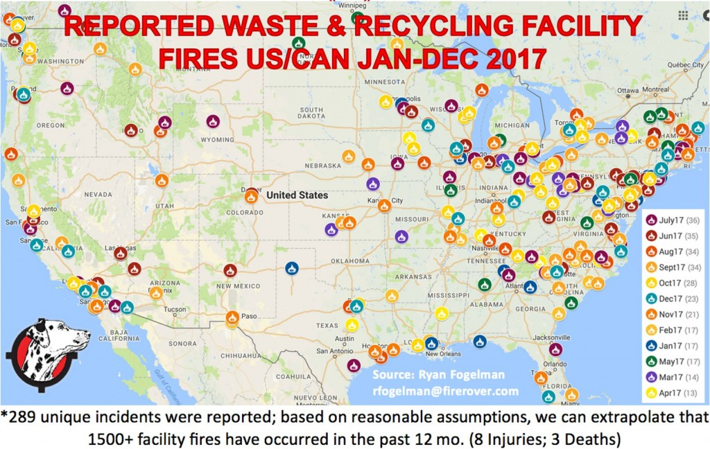 Is the recycling industry facing a fire epidemic?