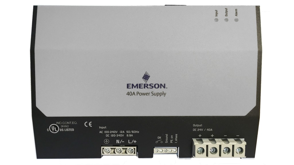 Emerson SolaHD power supply upgraded for more connectivity and wider application range