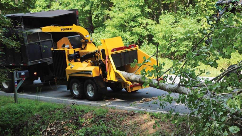 The Vermeer AX19 brush chipper.