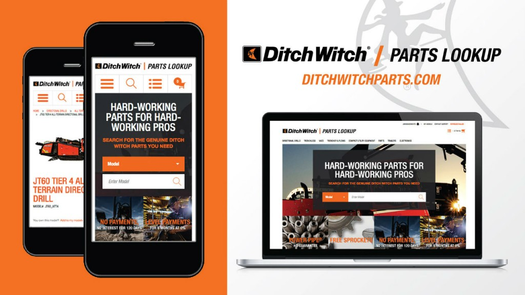 Ditch Witch now offers an online parts lookup tool for equipment buyers.