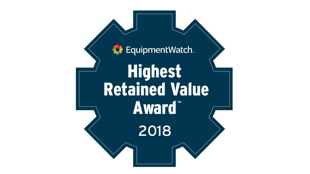 EquipmentWatch names Highest Retained Value Awards winners