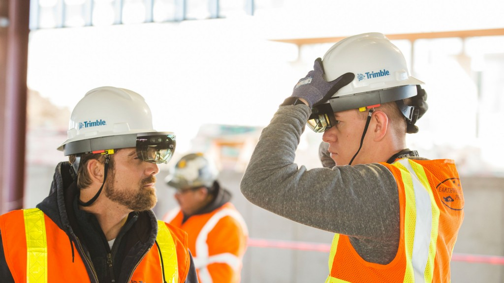 Trimble's Hard Hat Solution for Microsoft HoloLens extends the benefits of HoloLens mixed reality into areas where increased safety requirements are mandated, such as construction sites, offshore facilities and mining projects.