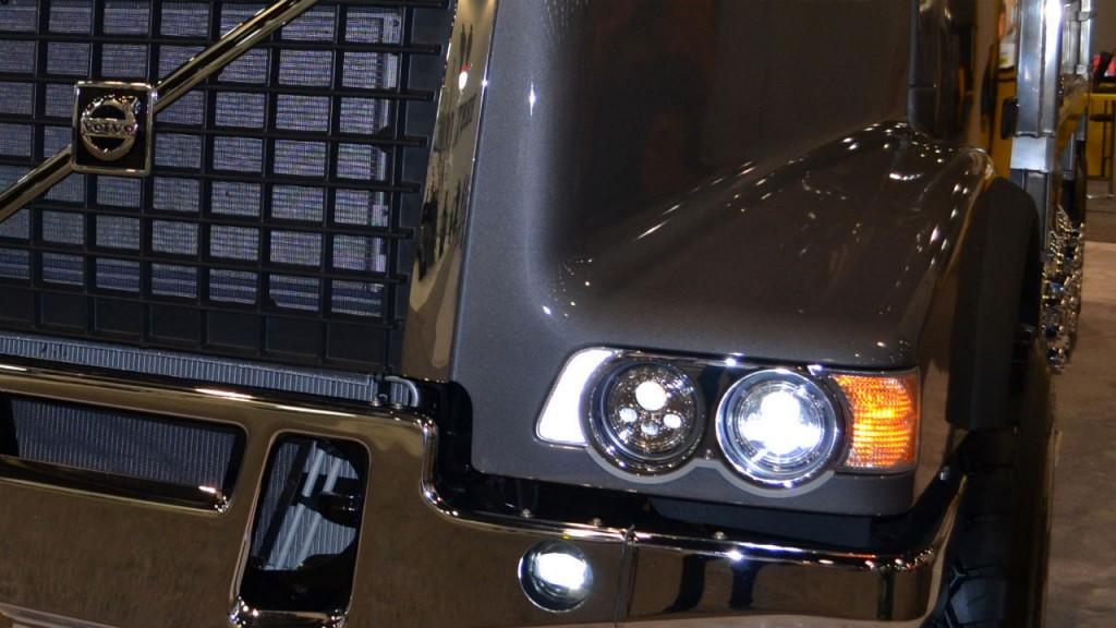 LED headlights are now standard on Volvo Trucks' VHD vocational trucks.