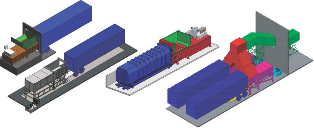 SP Industries offers heavy-duty transfer stations for solid waste and recyclable materials