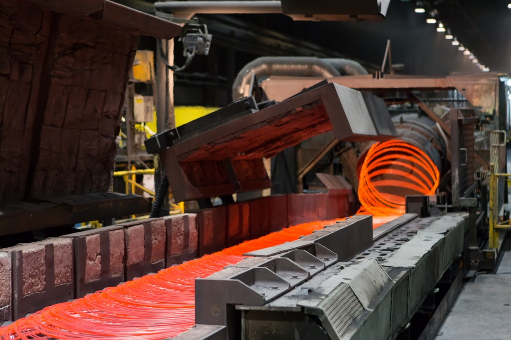 Wire rod is produced at the ArcelorMittal wire rod mill in Contrecoeur, Quebec. This wire is intended for many applications such as cold heading or welding products.
