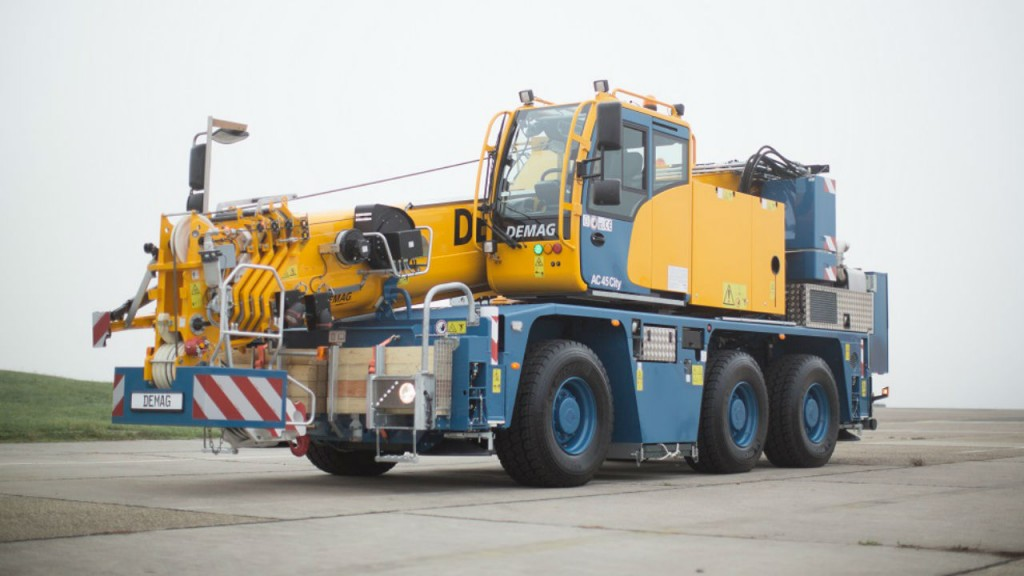 A Demag AC 45 City crane, one of eight ordered by CraneWorks.