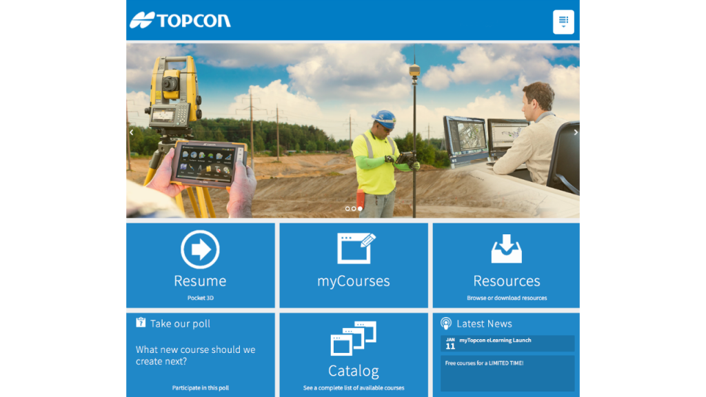 New online courses added to Topcon support site