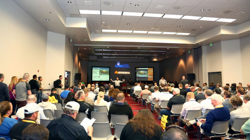 The CIM auction at World of Concrete 2018.
