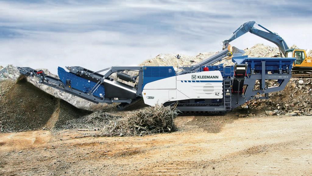 The Kleemann MR 130 Zi EVO2 impact crusher.