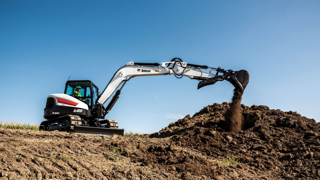 Largest compact excavator from Bobcat offers 66 horsepower