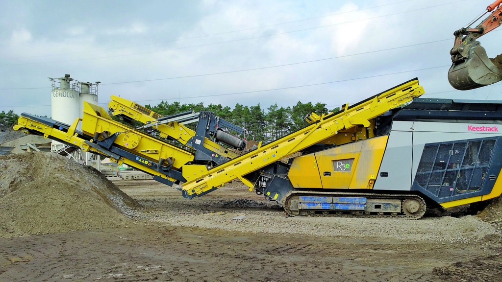 Keestrack has updated its R3 / R3e track-mounted impact crusher.