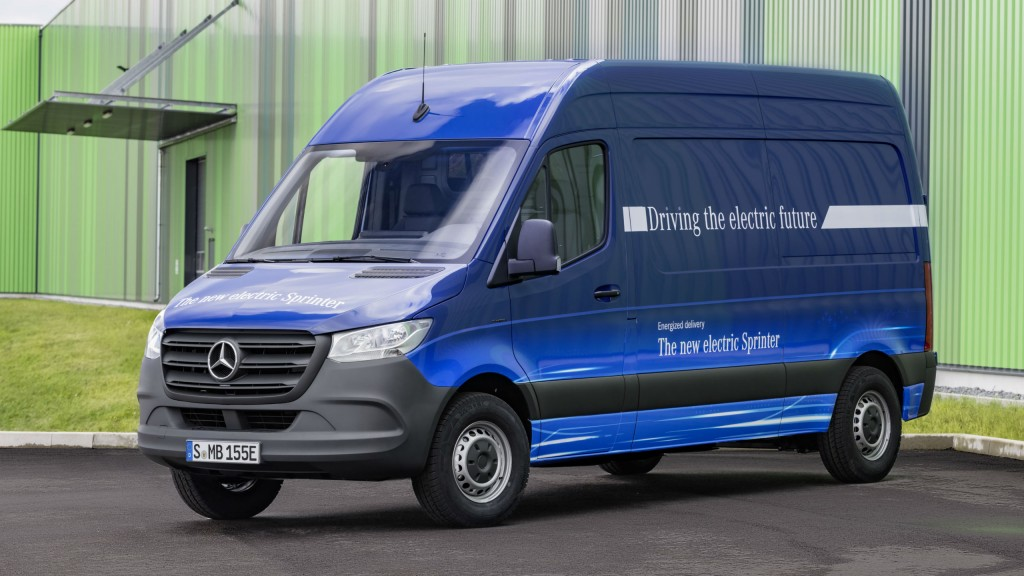 An electrified Sprinter van is expected to be available starting in 2019.