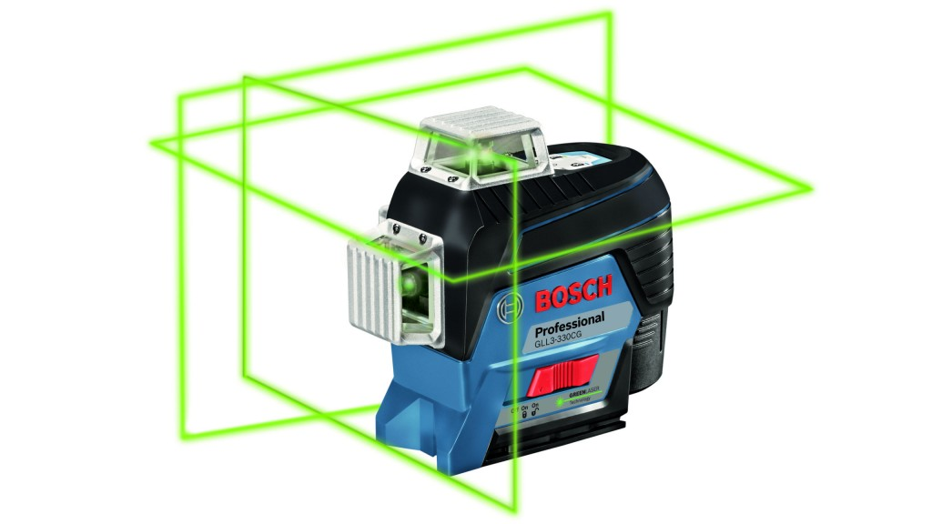 The Bosch GLL3-330CG laser level.