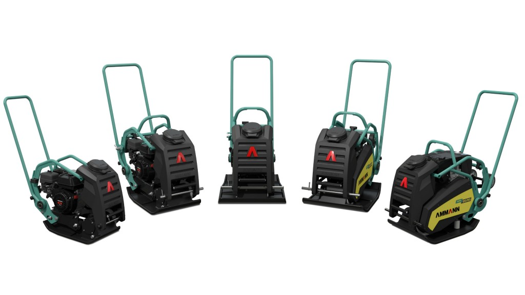 Ammann is offering five new vibratory plates.