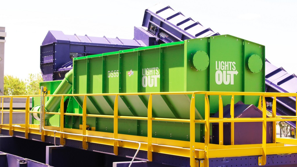 CP's Lightsout air drum separator ideal for separation of light materials from glass