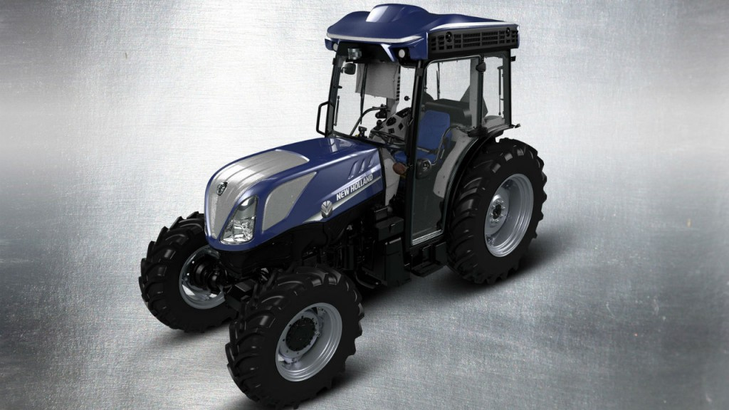 New Holland is testing autonomous technology in vineyard applications.
