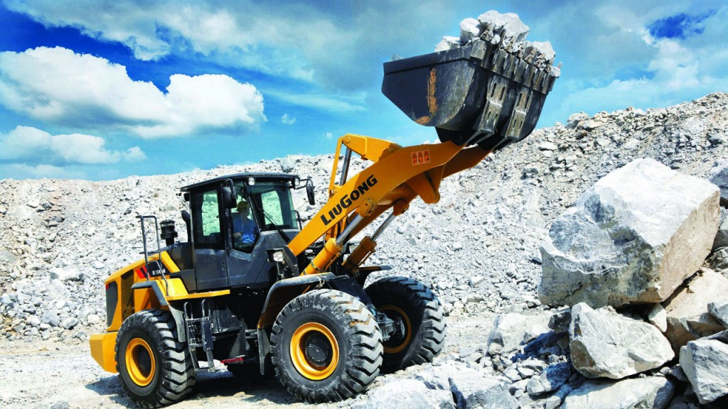 LiuGong's 856H will be on display at World of Asphalt.