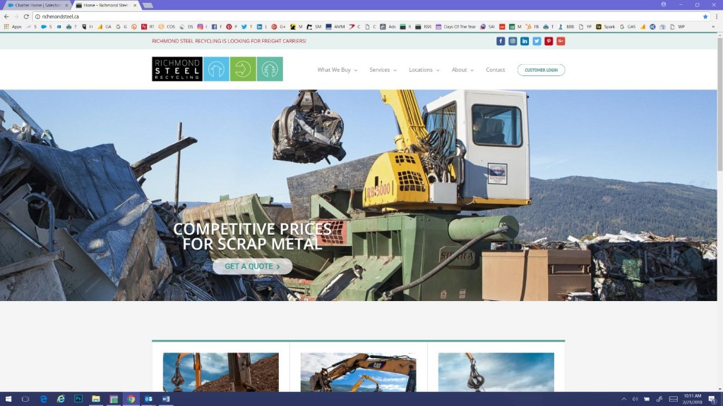 Richmond Steel Recycling launches redesigned website