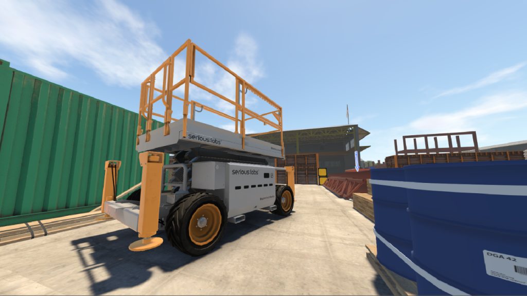 New operators can explore realistic jobsite environments and safely test the limits of equipment in dangerous situations with Serious Labs VR simulators.