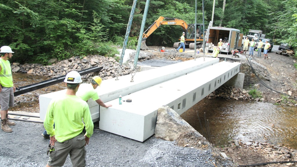 In 2017, the grant was awarded to Quincy Township, Pennsylvania, for use on replacement/repair work on the Old Forge Bridge – a deteriorating bridge in an important location that risked access to residents, as well as fire departments, ambulances, police, school busses and other essential components of the community.