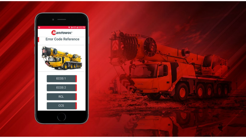 Manitowoc releases free diagnostic mobile app to increase crane uptime for customers