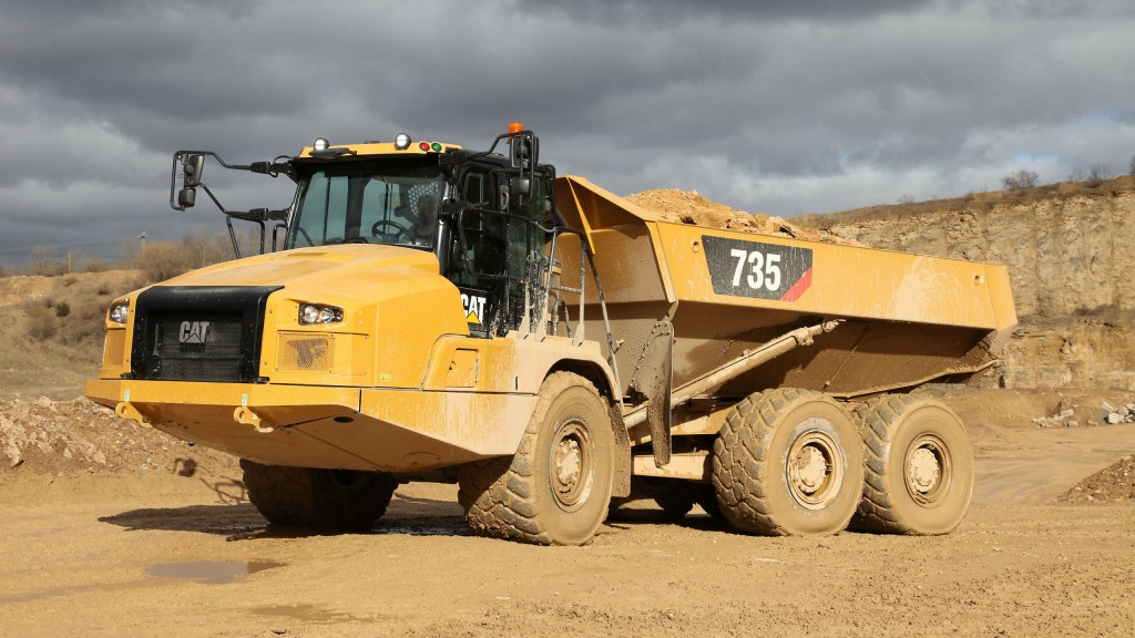 Cat 735 articulated truck.