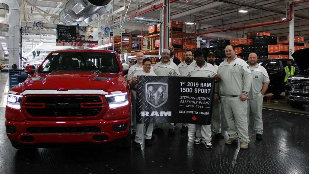 2019 Ram 1500 Sport production begins