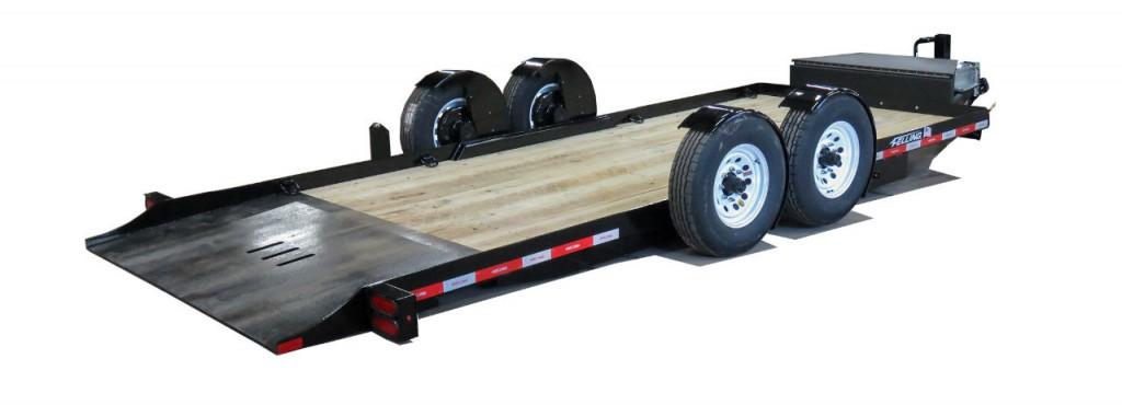 Felling Trailers EZ Tilt Technology for ground level loading
