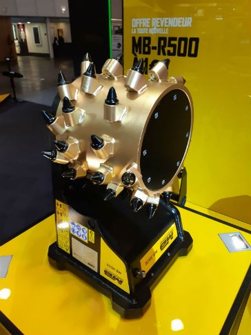 MB Crusher showcases new cutter head at Intermat