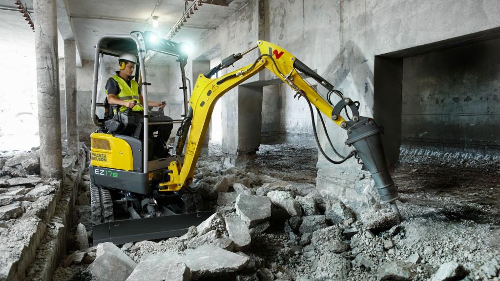 Wacker Neuson unveils their first battery-powered, zero-tail mini excavator
