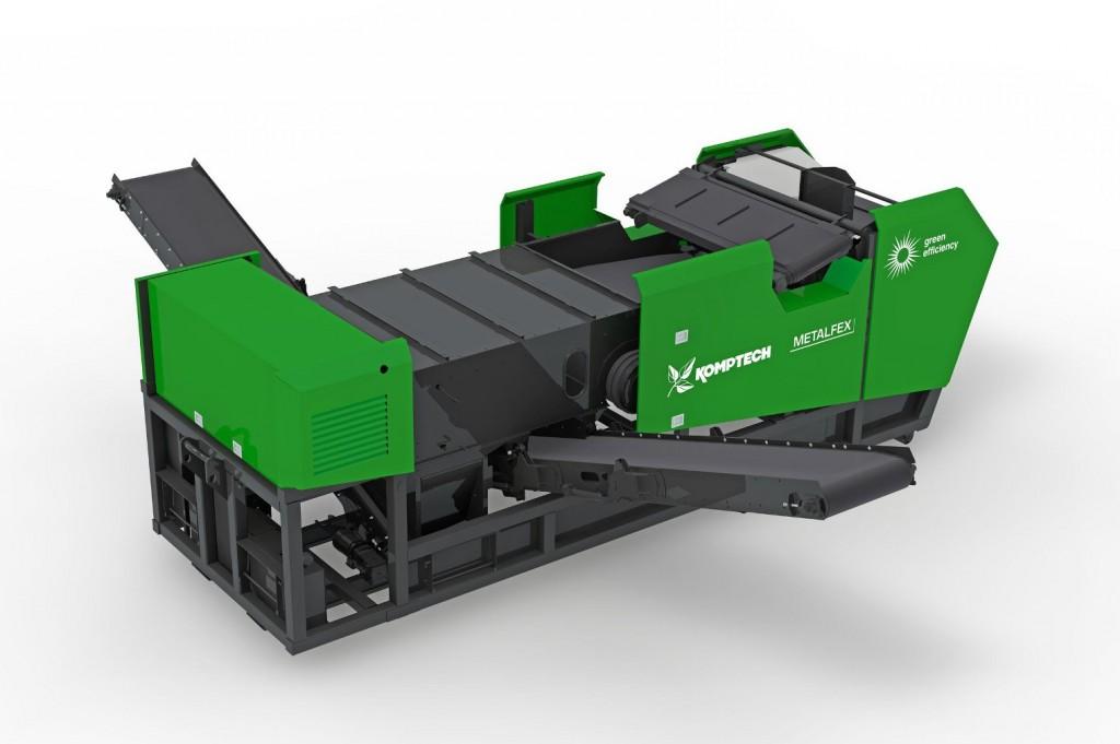 Komptech adds Metalfex mobile non-ferrous metal separator to line of separating machines