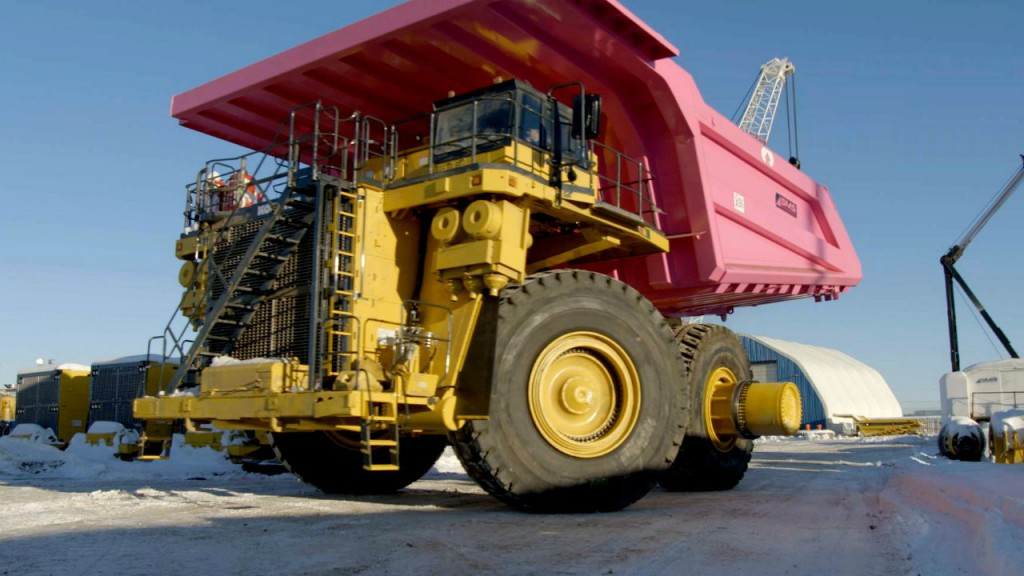 Messages supporting breast cancer and prostate cancer awareness, as well as mental health awareness, are part of the unique paint jobs on two Komatsu mining trucks.