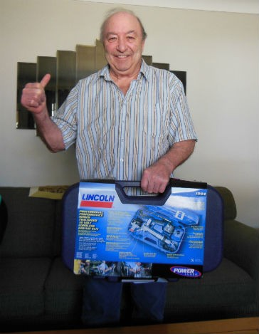 FLO Components announces winner in Lincoln 1844 PowerLuber Grease Gun contest