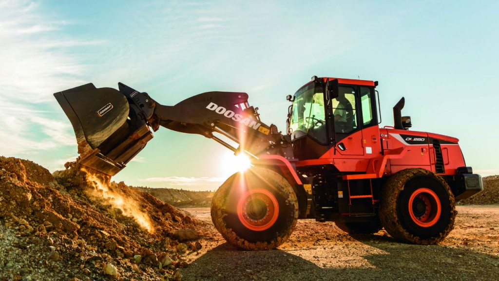 Doosan's new DL280-5 wheel loader is a solid choice for earthmoving, and is also offered with an optional guarding package for recycling and waste operations.