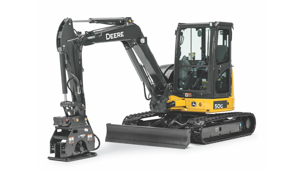 John Deere offers three new high-performance vibratory plate compactors