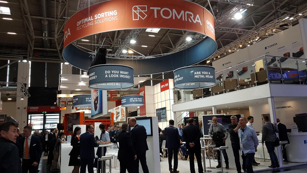 TOMRA reports increased interest in sorting technologies at IFAT 2018