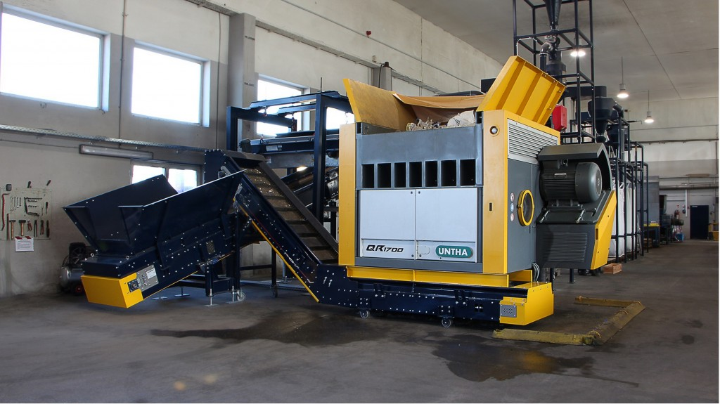 ​Untha shows off QR shredder, among range of models at IFAT 2018