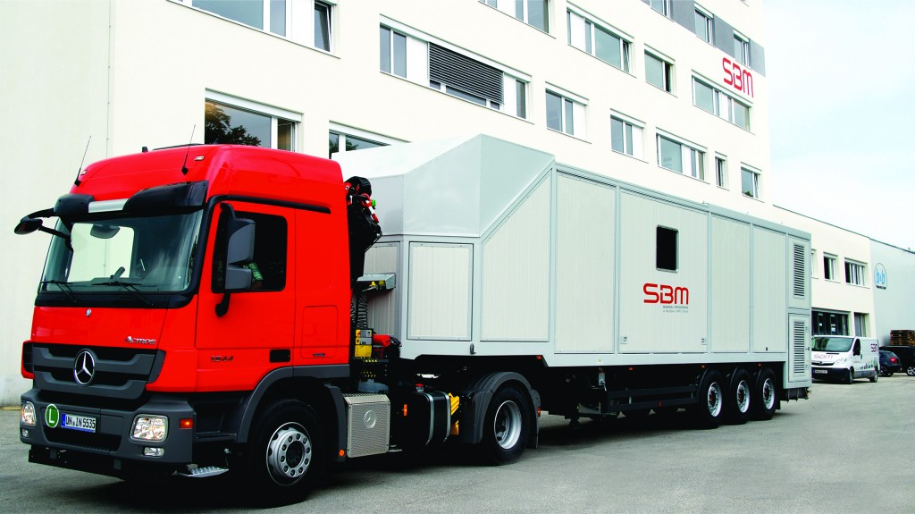 SBM Mobile production of ultra-high-performance concrete