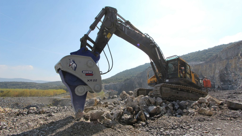 Xcentric Ripper's new Mining Series has been reinforced with a remodelled working platform which delivers a much higher energy impact force to the work tool with a lower frequency.