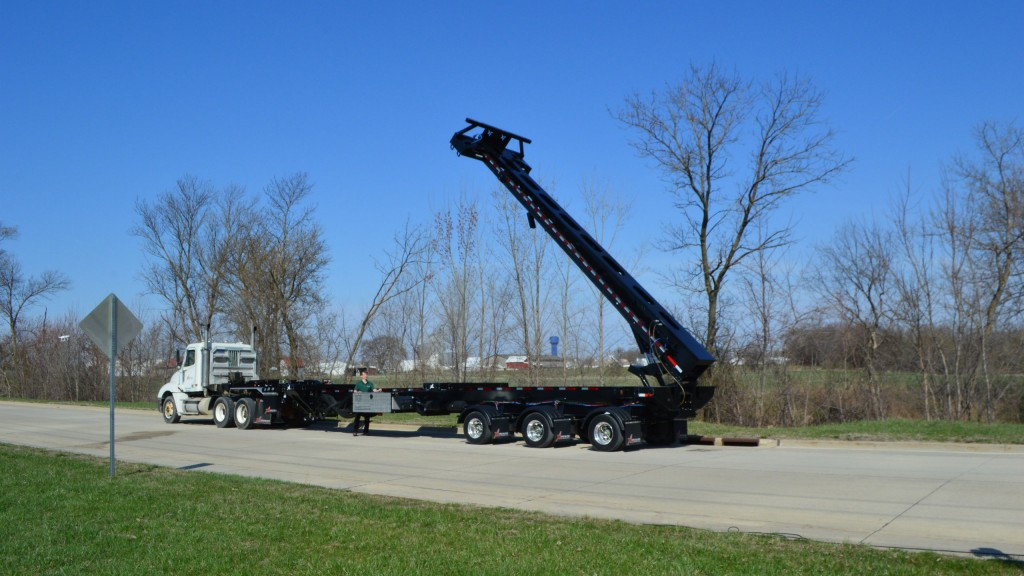 XL's 27-foot-long Flip Extension can be added to the rear of XL's BladeMate trailer, or any blade-hauling trailer.